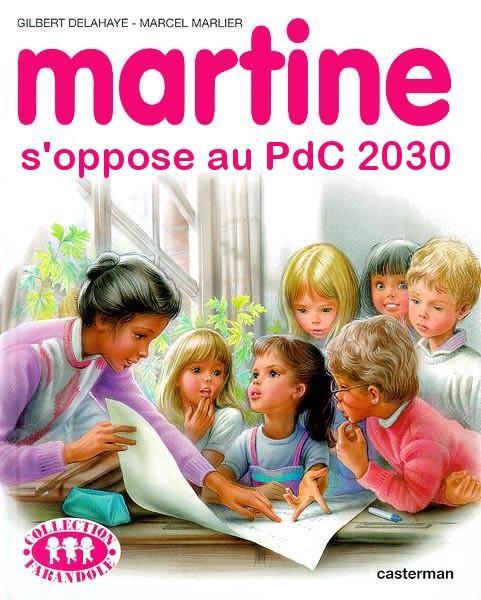 Martine s\'oppose au plan directeur 2030