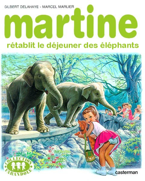 Martine aime les éléphants de Knie