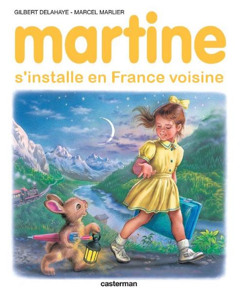 Martine s\'installe en France voisine