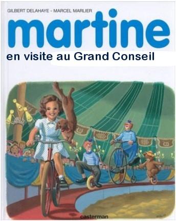 Martine en visite au Grand Conseil