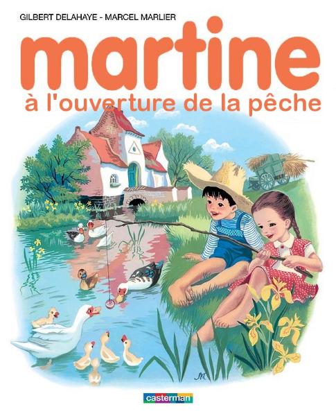 Martine à l\'ouverture de la pêche