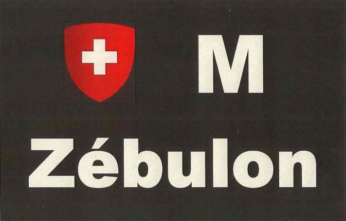 Plaque M + Zébulon